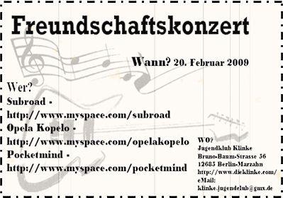 Klinke 20.02.2009 Opelo Kopelo, Pocketmind, Subroad